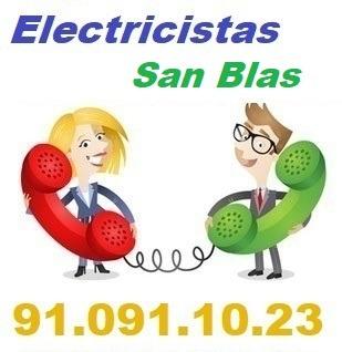Telefono de la empresa electricistas San Blas