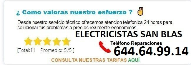 electricistas San blas precios